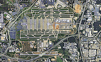 aerial photo map Hartfield-Jackson Atlanta International Airport, ATL, Georgia