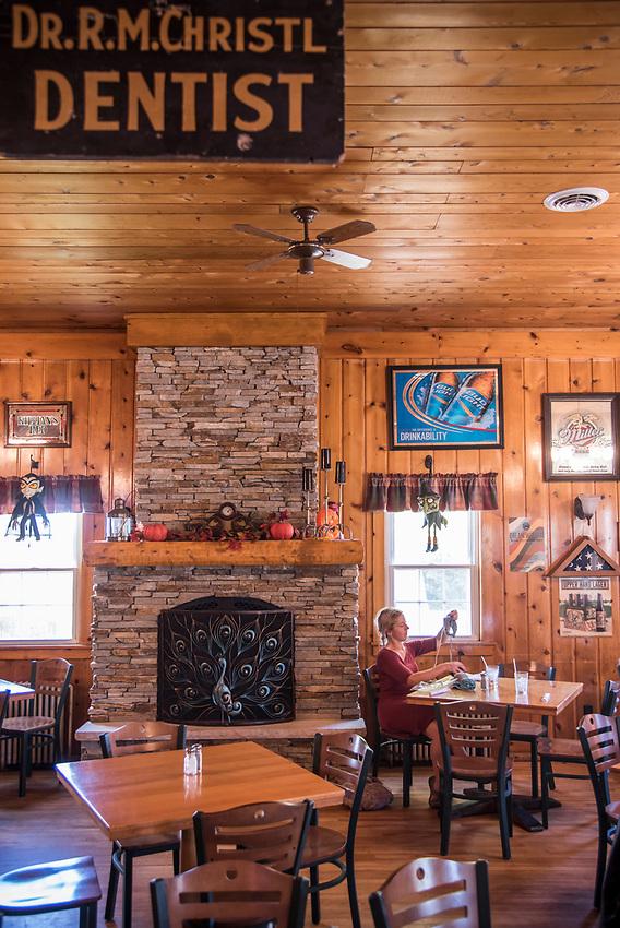 Interior of the historic Thunder Bay Inn at Big Bay, Michigan.