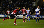 Billy Sharp of Sheffield Utd scores his goal during the FA Cup match at the Madejski Stadium, Reading. Picture date: 3rd March 2020. Picture credit should read: Simon Bellis/Sportimage