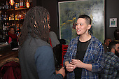 0409 - 5th Ward aldermanic candidate, Jocelyn Hare spoke with Dave Stovall during her campaign party located at Bureau Bar located at 75 E. 16th Street.
