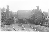 RGS #74 and D&amp;RGW #452 at Ridgway yard.<br /> RGS  Ridgway, CO  Taken by Hilner, Ray C. - 8/19/1951