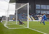 29/04/2017 National League North AFC Fylde v Worcester City<br /> <br /> Andy Bond scores AFC Fylde's third goal