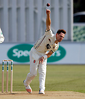 Matt Henry bowls for Kent during the County Championship Division 2 game between Kent and Gloucestershire at the St Lawrence Ground, Canterbury, on Fri 13 Apr, 2018.