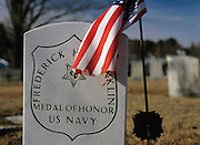 Medal of Honor headstone in a New England cemetery
