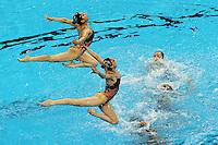 D.P.R. KOREA - Corea del Nord.Technical Teams Synchro - Sincronizzato.Shanghai 19/7/2011 .14th FINA World Championships.Foto Andrea Staccioli Insidefoto
