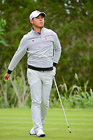 Si Woo Kim (KOR) watches his tee shot on 7 during round 3 of the Valero Texas Open, AT&amp;T Oaks Course, TPC San Antonio, San Antonio, Texas, USA. 4/22/2017.<br /> Picture: Golffile | Ken Murray<br /> <br /> <br /> All photo usage must carry mandatory copyright credit (&copy; Golffile | Ken Murray)