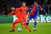 31st October 2017, St Jakob-Park, Basel, Switzerland; UEFA Champions League, FC Basel versus CSKA Moscow; Luca Zuffi of FC Basel challenges Bibras Natkho of CSKA Moscow for the ball