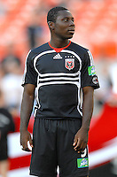 DC United midfielder Freddy Adu (9) during the team presentation. DC United defeated the Chicago Fire 1-0, Wednesday, June 21, 2006.