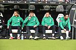 06.10.2019, Commerzbankarena, Frankfurt, GER, 1. FBL, Eintracht Frankfurt vs. SV Werder Bremen, <br /> <br /> DFL REGULATIONS PROHIBIT ANY USE OF PHOTOGRAPHS AS IMAGE SEQUENCES AND/OR QUASI-VIDEO.<br /> <br /> im Bild: Michael Lang (SV Werder Bremen #4), Luc Ihorst (SV Werder Bremen #29), Philipp Bargfrede (#44, SV Werder Bremen), Claudio Pizarro (SV Werder Bremen #14)<br /> <br /> Foto © nordphoto / Fabisch