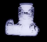 X-Ray of a modern digital camera.