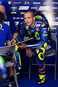 June 10th 2017,  Barcelona Circuit, Montmelo, Catalunya, Spain; MotoGP Grand Prix of Catalunya, qualifying day; Valentino Rossi of Movistar Yamaha MotoGP relaxes before the Qualifying session