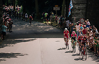 rolling through the town of Pamiers<br /> <br /> Stage 16: Carcassonne > Bagnères-de-Luchon (218km)<br /> <br /> 105th Tour de France 2018<br /> ©kramon