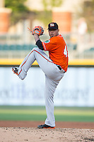 Baltimore Orioles pitcher Yovani Gallardo (49) makes a rehab start for the Norfolk Tides against the Charlotte Knights at BB&T BallPark on June 13, 2016 in Charlotte, North Carolina.  The Tides defeated the Knights 4-1.  (Brian Westerholt/Four Seam Images)