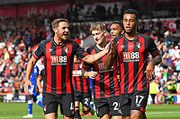 Dan Gosling of AFC Bournemouth left congratulates Joshua King of AFC Bournemouth right after scoring from the penalty spot during AFC Bournemouth vs Leicester City, Premier League Football at the Vitality Stadium on 15th September 2018