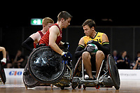 Andrew Edmondson (AUS) vs GB<br /> Australian Wheelchair Rugby Team<br /> 2018 IWRF WheelChair Rugby <br /> World Championship / Semi Finals<br /> Sydney  NSW Australia<br /> Thursday 9th August 2018<br /> © Sport the library / Jeff Crow / APC