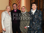 Archdeacon Jim Carroll with Bernie Davis, Joan Watchorn and Breda Hayden after his last mass in Our Lady of Lourdes church. Photo:Colin Bell/pressphotos.ie