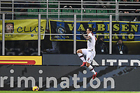 Federico Santander of Bologna celebrates after scoring goal of 0-1 <br /> Milano 03-02-2019 Stadio San Siro Football Serie A 2018/2019 Inter - Bologna    <br /> Foto Image Sport / Insidefoto