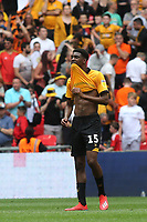 Despair for Newport's Tyreeq Bakinson at the final whistle after losing to a late goal in extra-time during Newport County vs Tranmere Rovers, Sky Bet EFL League 2 Play-Off Final Football at Wembley Stadium on 25th May 2019