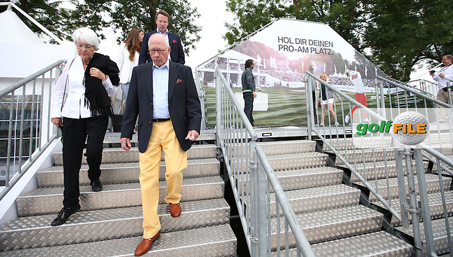 Public access via a bridge and staircase into the tented village, ahead of Round Three of the 2015 BMW International Open at Golfclub Munchen Eichenried, Eichenried, Munich, Germany. 27/06/2015. Picture David Lloyd | www.golffile.ie