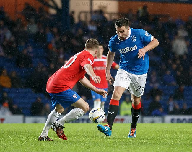 Darren McGregor on the attack for Rangers