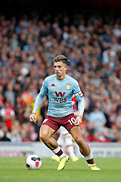 Jack Grealish of Aston Villa during the Premier League match between Arsenal and Aston Villa at the Emirates Stadium, London, England on 22 September 2019. Photo by Carlton Myrie / PRiME Media Images.