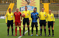 BOGOTA -COLOMBIA, 12-03-2017. Central Referee  Lee Van Suarez.Action game between  Tigres FC  and Rionegro during match for the date 9 of the Aguila League I 2017 played at Metropolitano de Techo stadium . Photo:VizzorImage / Felipe Caicedo  / Staff