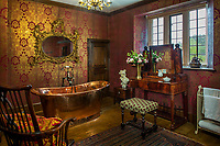 BNPS.co.uk (01202 558833)<br /> Pic: Savills/BNPS.<br /> <br /> One of the bathroom's at Athelhampton House.<br /> <br /> The contents of one of England's finest stately homes are expected to fetch over £1m when they go under the hammer.The auction of a myriad of treasures inside Athelhampton House in Dorset is being hailed as one of the best country house sales for a generation The collection of fine art, furniture, sculptures, paintings and rugs has been amassed by three generations of the Cooke family who have just sold the Tudor mansion for £7.5m.