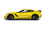 Car Driver side profile view of a 2016 Chevrolet Corvette Z06-Coupe-1LZ 3 Door Targa Side View