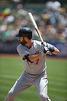 OAKLAND, CA - JULY 19:  Joe Mauer #7 of the Minnesota Twins bats during the game against the Oakland Athletics at O.co Coliseum on Sunday, July 19, 2015 in Oakland, California. Photo by Brad Mangin