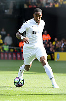 Saturday April 15 2017 <br /> Pictured: Leroy Fer of Swansea City<br /> Re: Premier League match between Watsford and Swansea City at Vicarage Road on April 15, 2017 in Swansea, Wales.