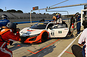 Pirelli World Challenge<br /> Intercontinental GT Challenge California 8 Hours<br /> Mazda Raceway Laguna Seca<br /> Sunday 15 October 2017<br /> Ryan Eversley, Tom Dyer, Dane Cameron, Acura NSX GT3, GT3 Overall pit stop.<br /> World Copyright: Richard Dole<br /> LAT Images<br /> ref: Digital Image RD_PWCLS17_354