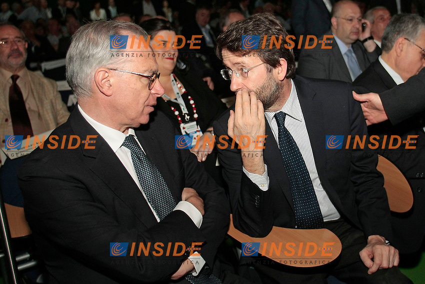 Guglielmo Epifani e Dario Franceschini<br /> Roma 12/06/2013 Palazzo dei Congressi. XVII Congresso Interfederale della CISL.<br /> Photo Samantha Zucchi Insidefoto