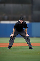 Umpire Mitch Leikam during a Florida Instructional League game between the Baltimore Orioles and the Tampa Bay Rays on October 1, 2018 at the Charlotte Sports Park in Port Charlotte, Florida.  (Mike Janes/Four Seam Images)