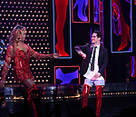 'Panic! at The Disco's' Brendon Urie makes his broadway debut as 'Charlie Price' in 'Kinky Boots' with J. Harrison Ghee on Broadway at The Al Hirschfeld Theatre on June 4, 2017 in New York City.