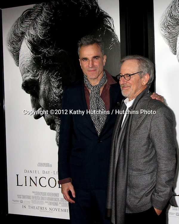"""LOS ANGELES - NOV 8:  Daniel Day-Lewis, Steven Spielberg arrives at the """"Lincoln"""" Premiere at the AFI Fest at Graumans Chinese Theater on November 8, 2012 in Los Angeles, CA"""