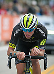 August 11, 2017 - Breckenridge, Colorado, U.S. -   Holowesko/Citadel's, T.J. Eisenhart, maintains a breakaway throughout the race during the second stage of the inaugural Colorado Classic cycling race, Breckenridge, Colorado.