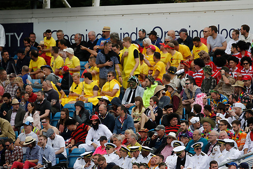 26th August 2017, Headingley, Leeds, England; International Test Match Series, Day 2; England versus West Indies; Spectators in fancy dress for the second day's play