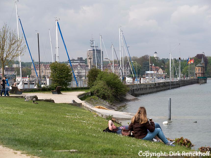 Beim Hafen von Konstanz, Baden-W&uuml;rttemberg, Deutschland, Europa<br /> port of Constance, Baden-W&uuml;rttemberg, Germany, Europe