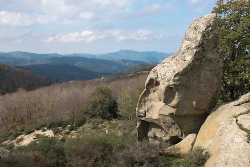 Montalbano Elicona, Sicile, Fev 2015. Site des megalithes d'Agrimusco.