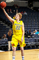 CHARLOTTESVILLE, VA- NOVEMBER 29: Blake McLimans #22 of the Michigan Wolverines during the game on November 29, 2011 at the John Paul Jones Arena in Charlottesville, Virginia. Virginia defeated Michigan 70-58. (Photo by Andrew Shurtleff/Getty Images) *** Local Caption *** Blake McLimans