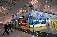 Shops at Terminal 3 Beijing International Airport. Designed by British architect Lord Norman Foster.
