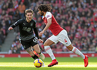 Burnley's Jeff Hendrick chases down Arsenal's Mohamed Elneny<br /> <br /> Photographer David Shipman/CameraSport<br /> <br /> The Premier League - Arsenal v Burnley - Saturday 22nd December 2018 - The Emirates - London<br /> <br /> World Copyright © 2018 CameraSport. All rights reserved. 43 Linden Ave. Countesthorpe. Leicester. England. LE8 5PG - Tel: +44 (0) 116 277 4147 - admin@camerasport.com - www.camerasport.com