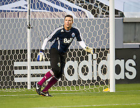 CARSON, CA - March 17, 2012: Vancouver Whitecaps FC goalie Joe Cannon (1) before the Chivas USA vs Vancouver Whitecaps FC match at the Home Depot Center in Carson, California. Final score Vancouver Whitecaps 1, Chivas USA 0.