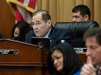 United States Representative Jerrold Nadler (Democrat of New York) chairs a hearing of the US House Judiciary Committee in which Acting Attorney General Matthew G. Whitaker appears on Capitol Hill in Washington, DC, February 8, 2019. Credit: Chris Kleponis / CNP/AdMedia