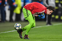 Wojciech Szscesny of Juventus misses a ball during the warm up <br /> Torino 26/11/2019 Juventus Stadium <br /> Football Champions League 2019//2020 <br /> Group Stage Group D <br /> Juventus - Atletico Madrid <br /> Photo Andrea Staccioli / Insidefoto