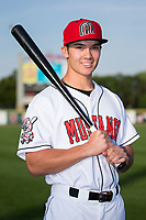 Billings Mustangs outfielder Stuart Fairchild (43) poses for a photo prior to the game against the Missoula Osprey at Dehler Park on August 21, 2017 in Billings, Montana.  The Osprey defeated the Mustangs 10-4.  (Brian Westerholt/Four Seam Images)