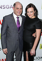 "HOLLYWOOD, LOS ANGELES, CA, USA - APRIL 02: Matthew Weiner, Elisabeth Moss at the Los Angeles Premiere Of AMC's ""Mad Men"" Season 7 held at ArcLight Cinemas on April 2, 2014 in Hollywood, Los Angeles, California, United States. (Photo by Xavier Collin/Celebrity Monitor)"