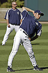Seattle Mariners' Ichiro Suzuki stretches out with the team before their game against the New York Yankees in Seattle, Washington on Wednesday, 31 August, 2005.Jim Bryant Photo. ©2010. ALL RIGHTS RESERVED.