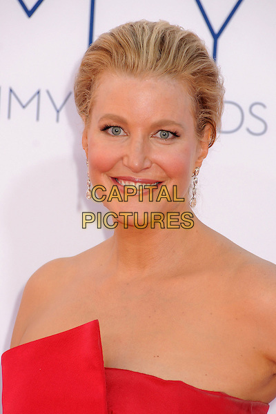 Anna Gunn.The 64th Anual Primetime Emmy Awards - Arrivals, held at Nokia Theatre L.A. Live in Los Angeles, California, USA..September 23rd, 2012.emmys headshot portrait red strapless .CAP/ADM/BP.©Byron Purvis/AdMedia/Capital Pictures.
