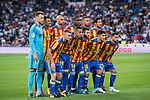Players of Valencia CF line up and pose for a photo prior to the La Liga 2017-18 match between Real Madrid and Valencia CF at the Estadio Santiago Bernabeu on 27 August 2017 in Madrid, Spain. Photo by Diego Gonzalez / Power Sport Images